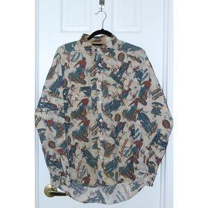 RARE Vintage Levi's WESTERN Shirt All Over Print